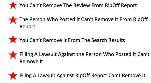 remove ripoff report from google